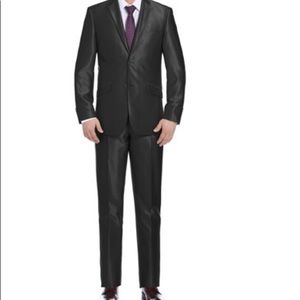 Vernon Men's Slim Sharkskin Suit (2 Piece)